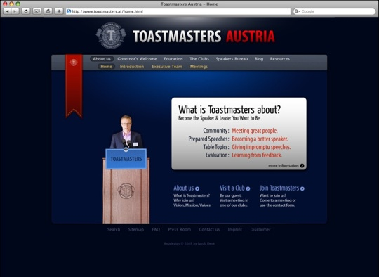 Toastmasters Austria Website
